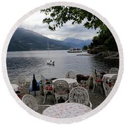 Lake Como 14 Round Beach Towel