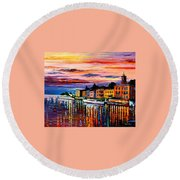 Lake Como - Bellagio  Round Beach Towel