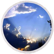 Lake Country Sunburst Round Beach Towel