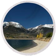 Lake Dillon Colorado Round Beach Towel