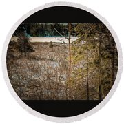 Lake Edge Round Beach Towel