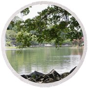 Lake Ella, Tallahassee Round Beach Towel