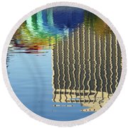 Lake Eola Reflections Round Beach Towel