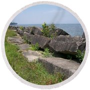 Lake Front Park Round Beach Towel