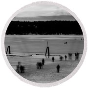 Lake Fun 6 Round Beach Towel
