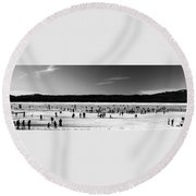 Lake Fun Round Beach Towel