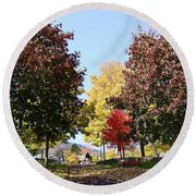 Lake George  3 Round Beach Towel