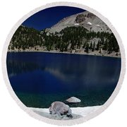 Lake Helen Lassen  Round Beach Towel