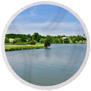 Lake House Property Round Beach Towel