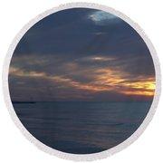 Lake Huron Sheen Round Beach Towel