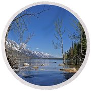 Lake Jenny Round Beach Towel