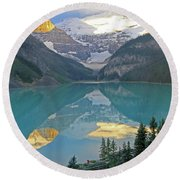 Lake Louise Sunrise Round Beach Towel
