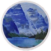 Lake Marine Round Beach Towel