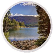 Lake Mary Forest Star Round Beach Towel