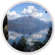 Lake Mcdonald Glacier National Park Round Beach Towel