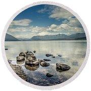 Lake Mcdonald - Glacier National Park Round Beach Towel