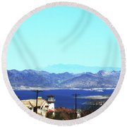 Lake Mead Las Vegas Round Beach Towel