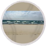 Lake Michigan 10.20.15 Round Beach Towel