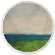 Lake Michigan Round Beach Towel
