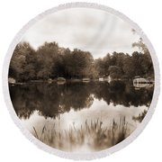 Lake Morris Round Beach Towel