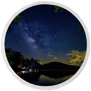 Lake Of Stars Round Beach Towel