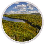 Lake Of The Clouds Round Beach Towel