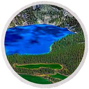 Lake O'hara Round Beach Towel