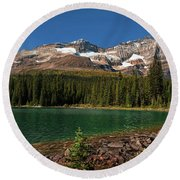 Lake O'hara, Yoho National Park Round Beach Towel