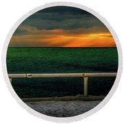 Lake Ontario Dawn Round Beach Towel