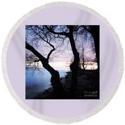 Lake Ontario In March  Round Beach Towel