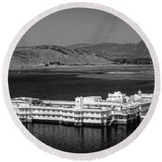 Lake Palace Hotel Round Beach Towel