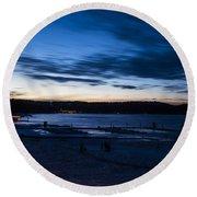 Lake Payette Round Beach Towel
