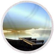Lake Pend D'oreille Fantasy Round Beach Towel