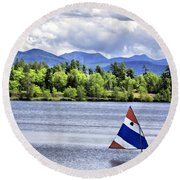 Lake Placid Round Beach Towel