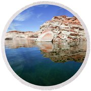 Lake Powell And The Glen Canyon Round Beach Towel