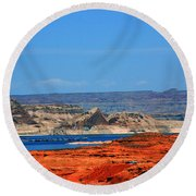 Lake Powell Utah Round Beach Towel