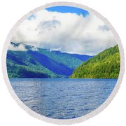 Lake Quinault Washington Round Beach Towel