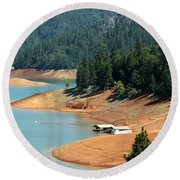 Lake Shasta Round Beach Towel