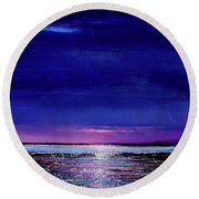 Lake Shimmers Round Beach Towel