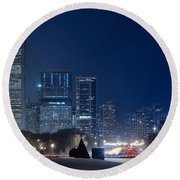 Lake Shore Drive Chicago Round Beach Towel