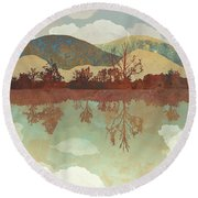 Lake Side Round Beach Towel