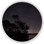 Lake Silhouette Round Beach Towel