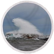 Lake Superior Beauty Round Beach Towel