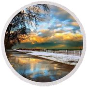 Lake Sure Round Beach Towel