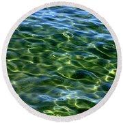 Lake Tahoe Swirls Round Beach Towel