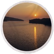 Lake Tenkiller Round Beach Towel