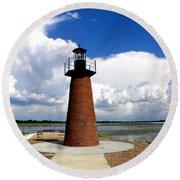 Lake Toho Lighthouse Round Beach Towel