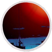 Lake Union Moorage Round Beach Towel