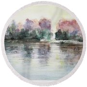 Lake Round Beach Towel