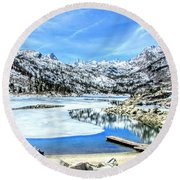 Lake Visions Round Beach Towel